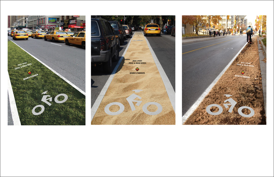 Gary Fisher Bike Lanes Outdoor Advertising