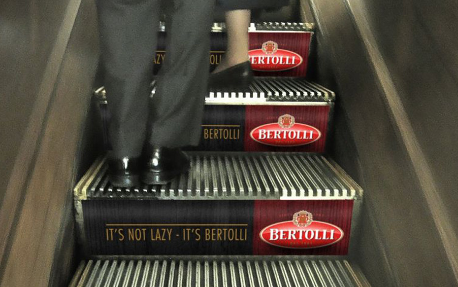 Jamie Kakleas Bertolli Pitch Ambient Escalator Idea