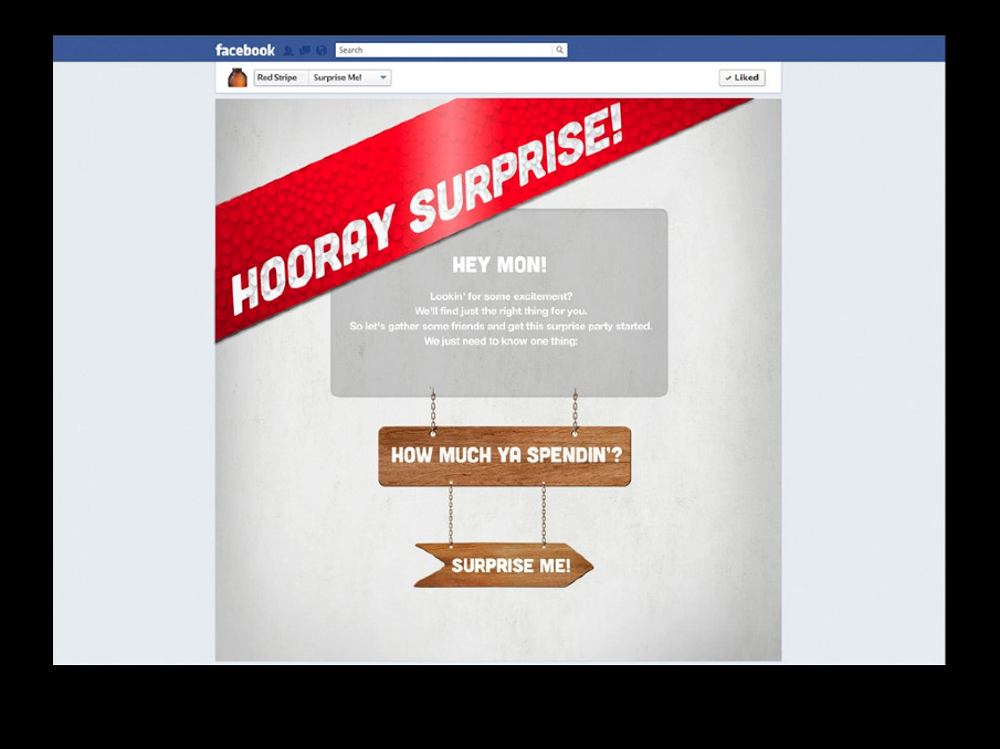 Jamie Kakleas Red Stripe Pitch Facebook Surprise