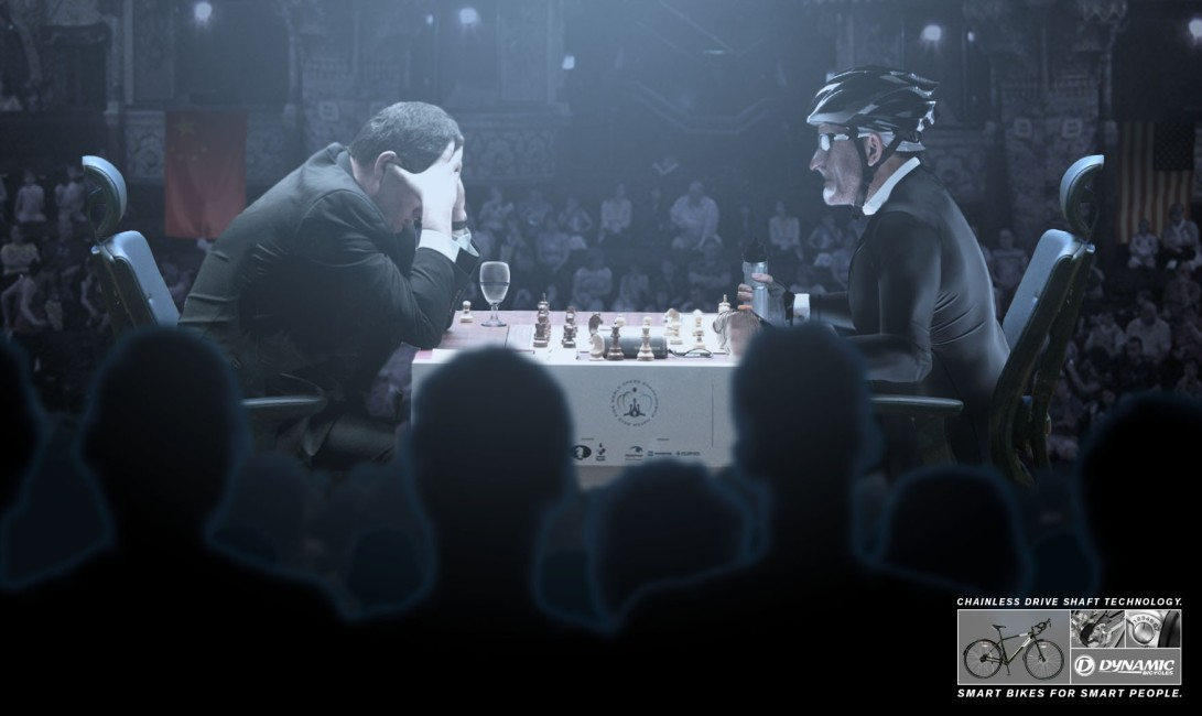 Print Ad by Jamie Kakleas for Dynamic Bicycles Chess Champion