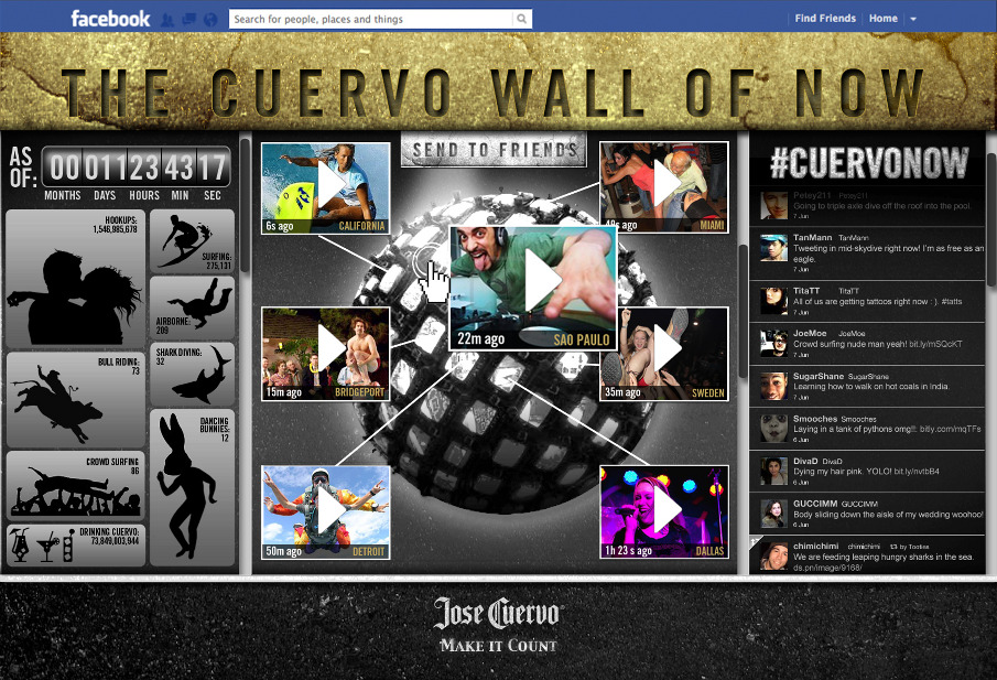 Jamie Kakleas Jose Cuervo Wall of Now Facebook App