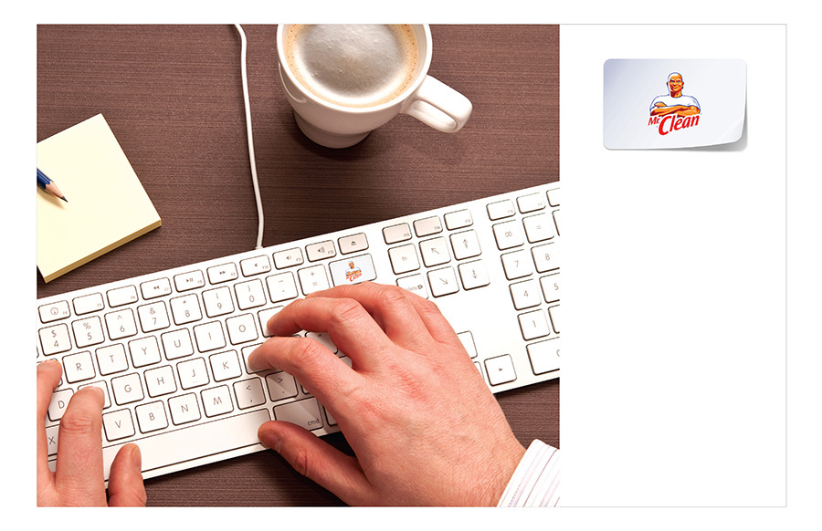 Ambient Idea by Jamie Kakleas for Mr. Clean Delete Dirt Keyboard Sticker